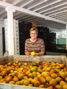 Sylvia Prevedelli will show off her orchard and apple barn