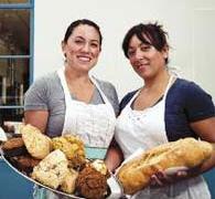 Ana Melissa Garcia and Erika Oiivarez sell the Bakery Station