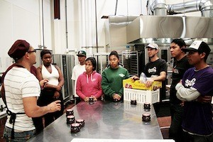 Students soak up Ruiz's mole teachings. Photo courtesy of My Mom's Mole.