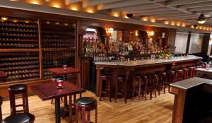 The upstairs dining room and bar at Motiv
