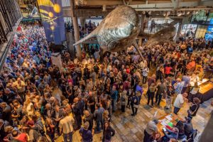 """The Soberanes Fire Relief Benefit at the Monterey Bay Aquarium. The Aquarium partnered with Downtown Dining and Over 20 """"Best of the Bay"""" Local Chefs for the event. Proceeds from the food and drinks went towards the Soberanes Fire Fund of the Community Foundation for Monterey County."""