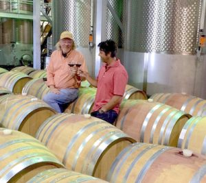 Karlsen and Viotto in the winery