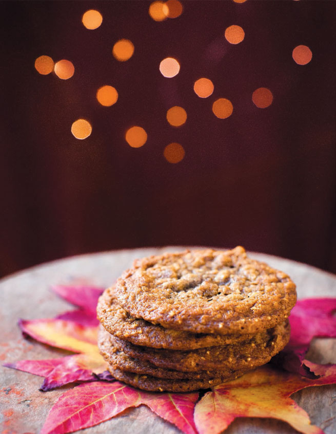 BROWN BUTTER-BAY LAUREL COOKIES