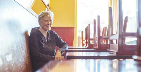 Getting ready to open: La Posta owner Patrice Boyle.