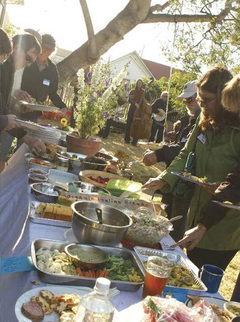 Foodie confab: a Local Catch potluck.