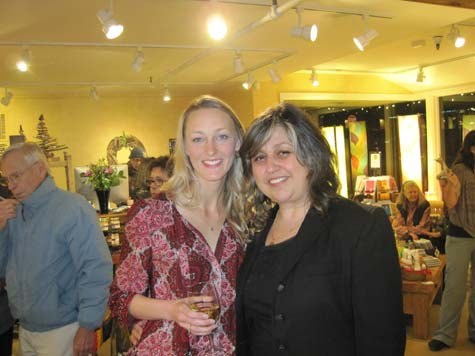 Eco Carmel owner Kristi Reimers with Daniella Dimitrova Russo, executive director of Plastic Pollution Coalition